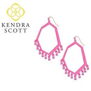 Kendra Scott Thomas Earrings Pink Matte Magenta